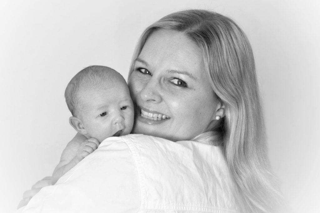 Portrait Baby und Mama