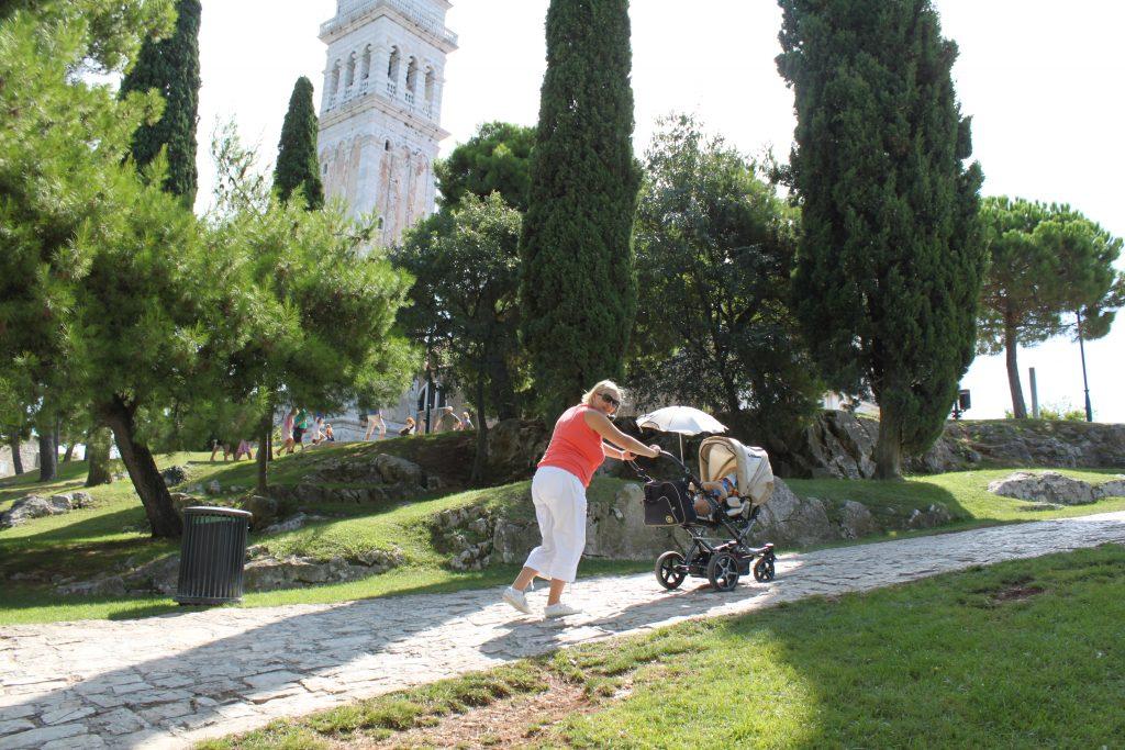 Rovinj mit Kinderwagen