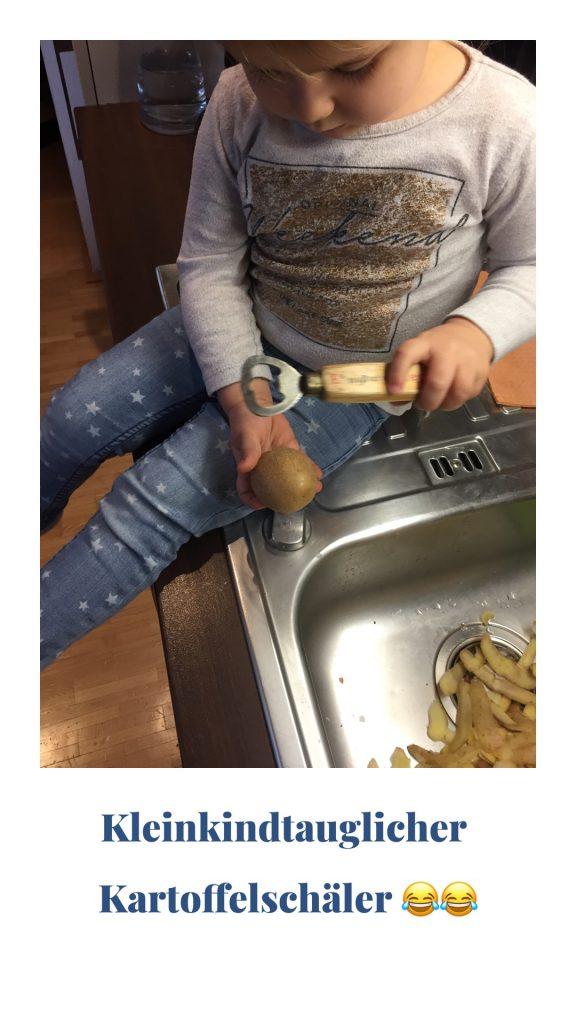 Kindertauglicher Kartoffelschäler